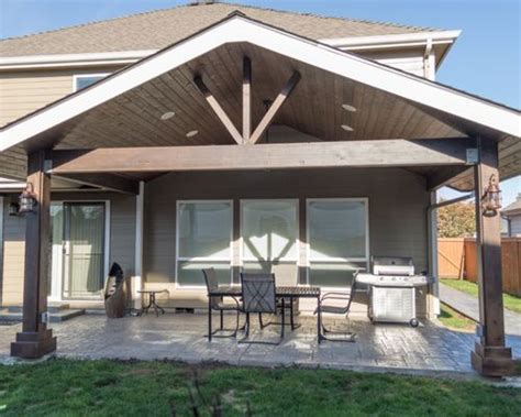 Gable Patio Designs Gabled Patio Cover Houzz