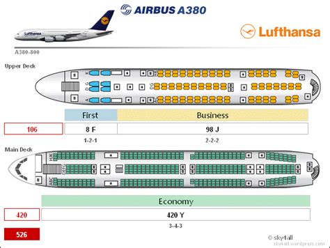 Cabin Floor Plan by Airbus A380 Cabin Configuration