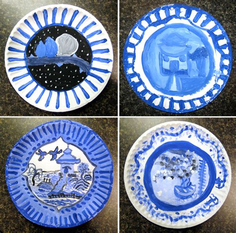 willow pattern art ks2 my adventures in positive space blue willow plates in tempera
