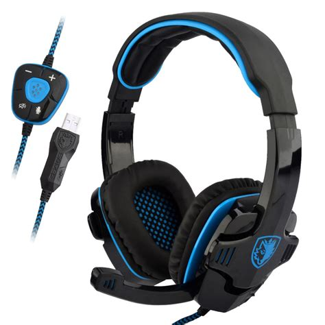 Headset Laptop Sades Sa 901 Stereo 7 1 Surround Gaming Headset Usb