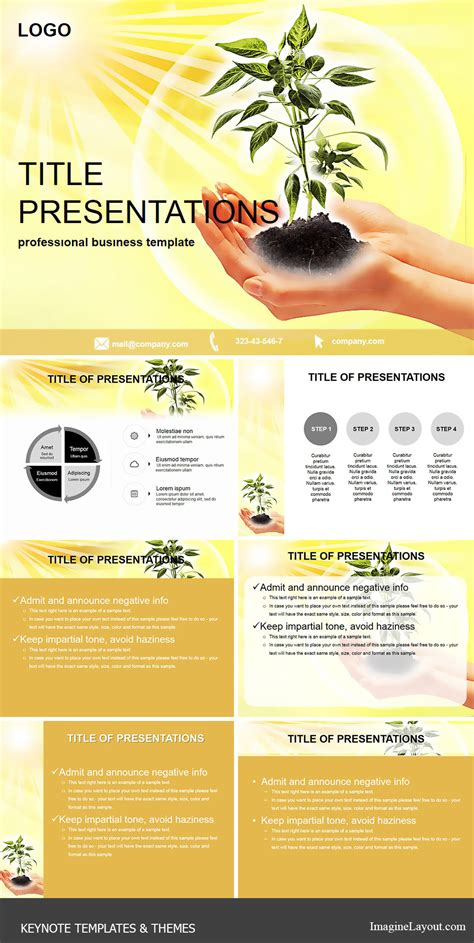 keyhole nature brochure template design id 0000008048 rare plants keynote template imaginelayout com