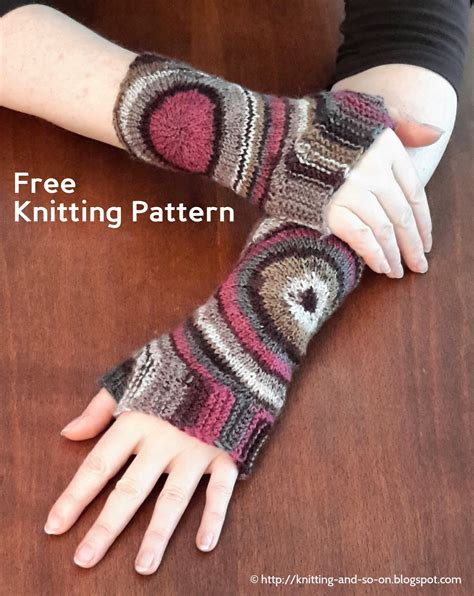 free fingerless gloves knitting pattern uk knitting and so on zoom out fingerless gloves