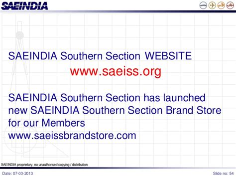 southern section saeindia southern section presentation new