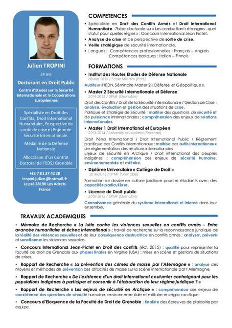 Modele Cv Doctorant cv etudiant doctorat