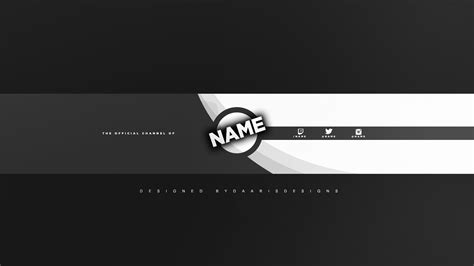 Clean 2d Gray Youtube Banner Template Daarisdesigns Clean Banner Template