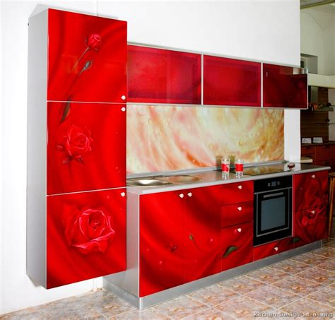 red kitchen cabinet pictures of kitchens modern red kitchen cabinets
