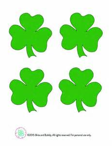 shamrock templates printable diy printable shamrock confetti brite and bubbly
