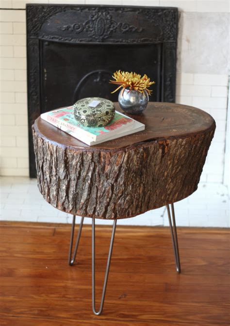 rustic diy stump coffee tables  stools shelterness