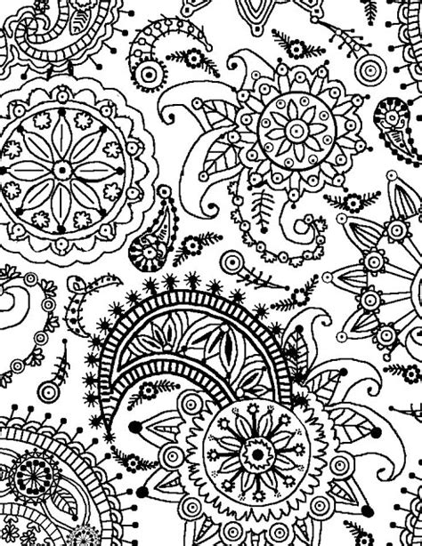 Floral Pattern Coloring Pages coloring page world paisley flower pattern portrait