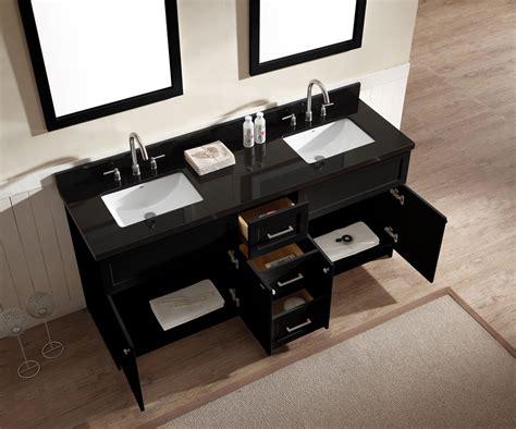 Bathroom Vanity Black Granite Top Ariel Hamlet 73 Quot Sink Vanity Set With Absolute