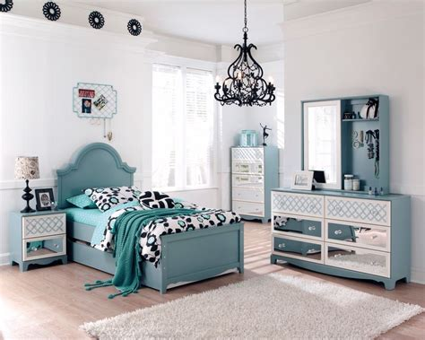 blue bedroom set ashley mivara tiffany turquoise blue girls kids french