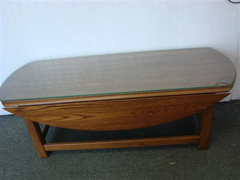 pennsylvania house solid oak coffee table w drop leaves