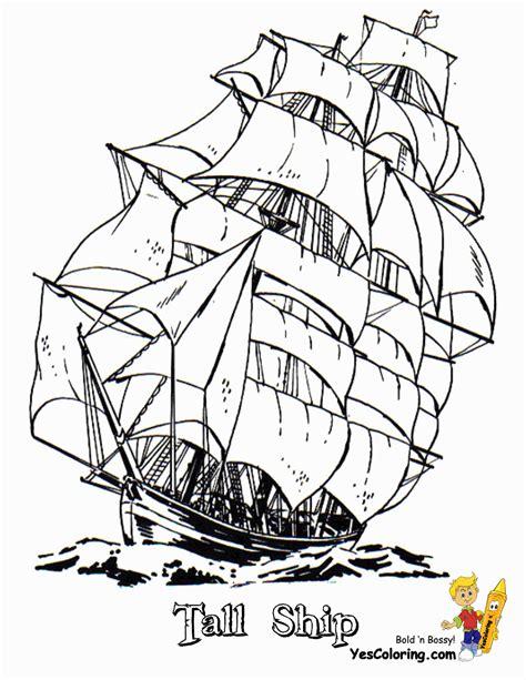 boat drawing activity full sail tall ship coloring sheet free sharp ships