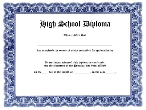 templates of certificates and diplomas free high school diploma templates template update234