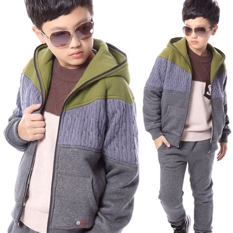 trendy jeans for teen boys teen boy kid fleece clothing 2 piece suit set hooded