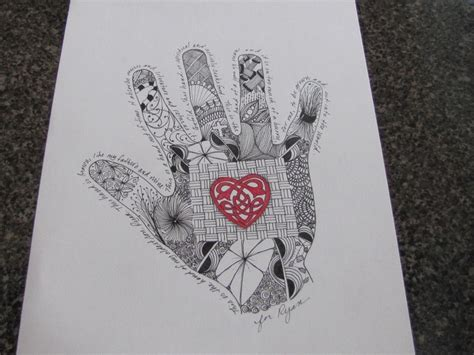 zentangle pattern sson zentangle hand son my work pinterest sons hands