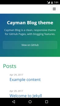 jekyll themes for github pages github lorepirri cayman blog cayman blog is a jekyll