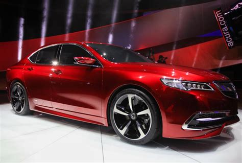 sleek and efficient 2015 acura tlx shown at detroit