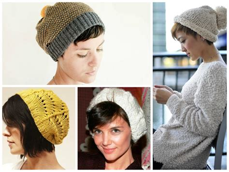 women cut hair cap knit beanie with short hair hair world magazine
