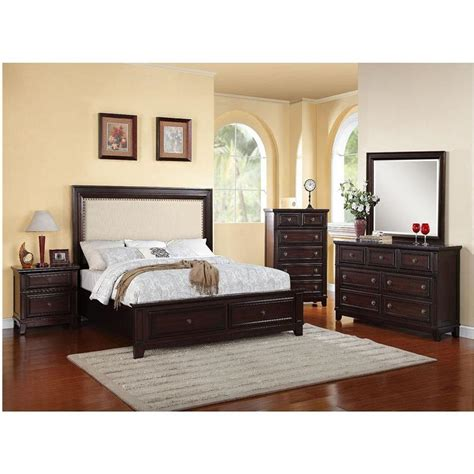 Ashfield 4 Storage Bedroom Set by Cambridge Willow Storage 5 Espresso Bedroom Suite