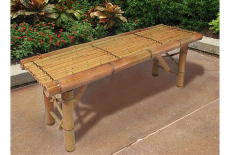 bamboo bench bar enjoy a tiki inspired landscape design with your new tiki