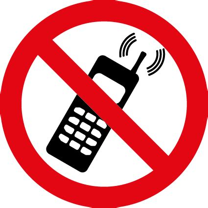no mobile phones symbol | health and safety signs