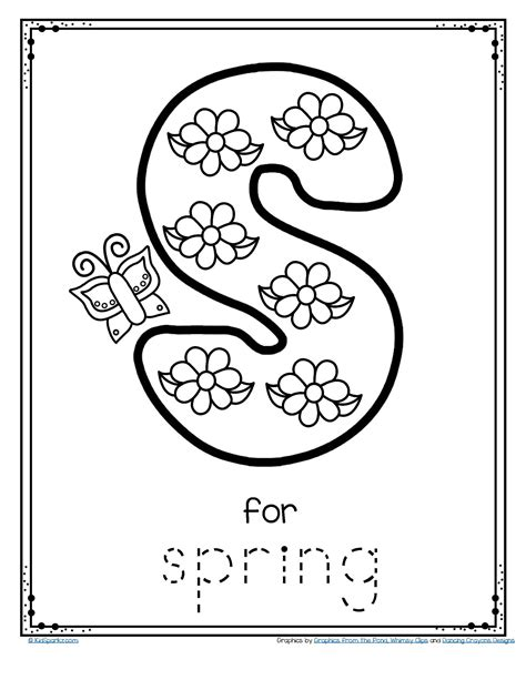 printable letters spring free letter s for spring trace and color alphabet
