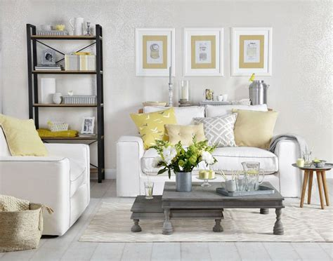 grey living room with lemon yellows decor going grey pinterest