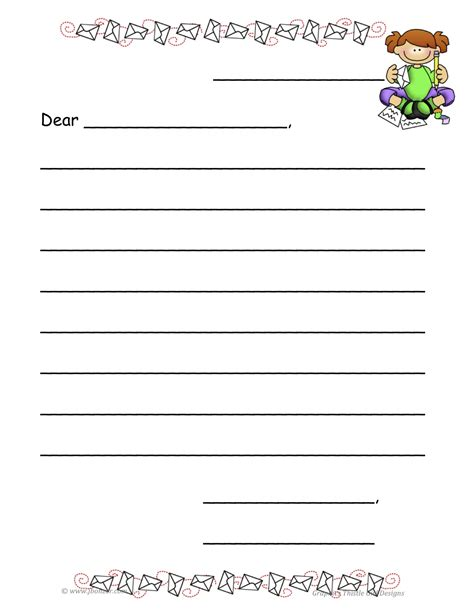 10 best images of postcard writing template for kids
