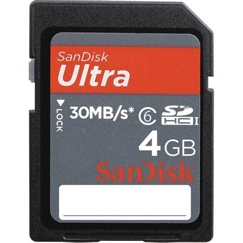 Memory Card 4gb Hp sandisk 4gb sdhc memory card ultra class 6 sdsdh 004g u46 b h
