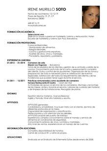 Modelo Curriculum Vitae Espa A modelos de curr 237 culum vitae para encontrar trabajo