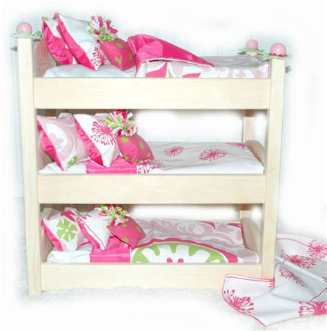 American Made Bunk Beds Doll Bunk Bed Make A Wish American Made Doll Bed Fits Ag Doll And 18 Inch Dolls