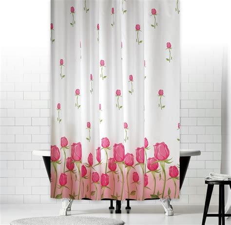 shower curtains 200cm length ellegant extra long and wide floral fabric shower curtain