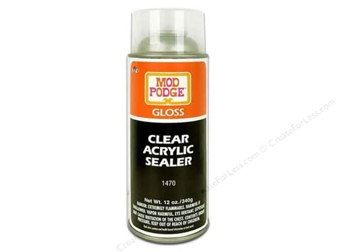 Decoupage Varnish Or Lacquer - plaid mod podge clear acrylic sealer 12 oz gloss