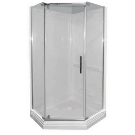 38 Neo Angle Shower Door Foremost Cvna38bc Cove 38 X 38 1 4 Frameless Neo Angle Shower Door