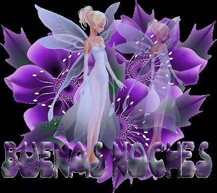 imagenes para whatsapp de hadas hermosa hada junto a flores violetas para darte las buenas