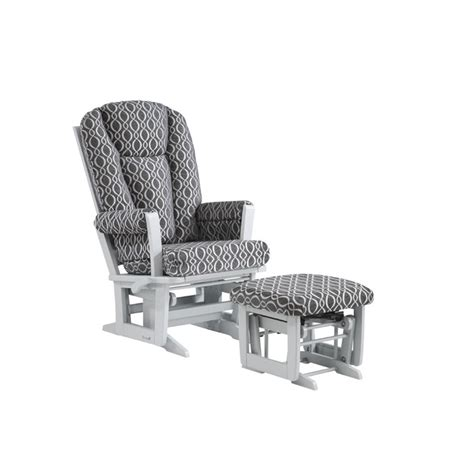 chaise dutailier dutailier multiposition glider and ottoman in charcoal