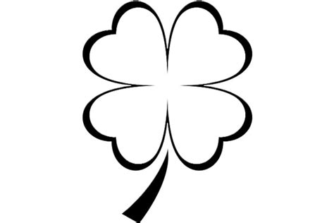 Coloring Page 3 Leaf Clover by Four Leaf Clover Coloring Pages