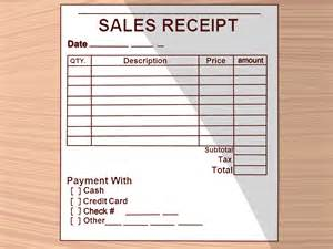 How To Make A Receipt Template by How To Write A Receipt 9 Steps With Pictures Wikihow
