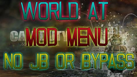 waw mod menu tutorial free waw mod menu no jb or bypass voice tutorial