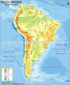physical feature map of south america generalities of the americas major landforms of south america