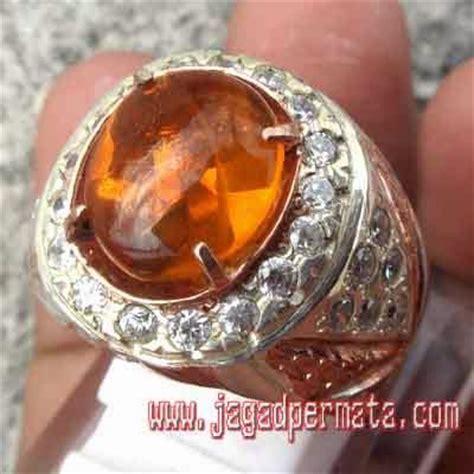 Oval Orange Wonogiri opal batu akik