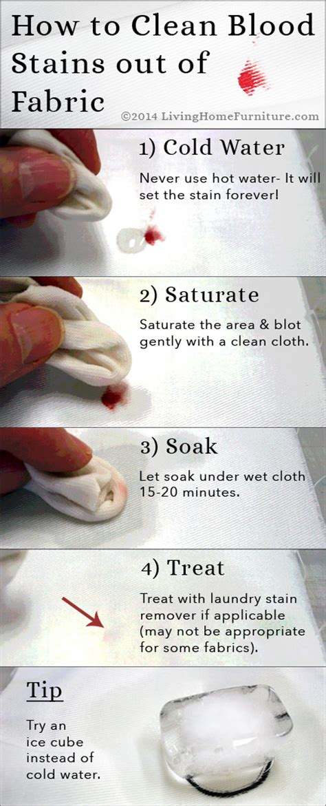How To Clean Fabric Upholstery by Upholstery Cleaning Tips 4 Steps To Get Blood Stains Out