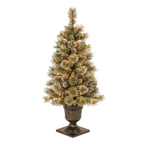 Martha Stewart Living 4 Ft Sparkling Pine Potted Martha Stewart Tree Lights