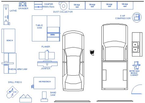 garage layout plans doing by wooding cool small woodshop plans layouts