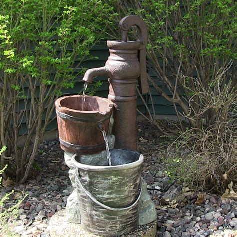 backyard water pump outdoor classics pump with pail outdoor water fountain