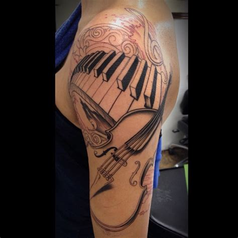 rose tattoo chords ultimate guitar awesome piano keys design with guitar tattoo on arm