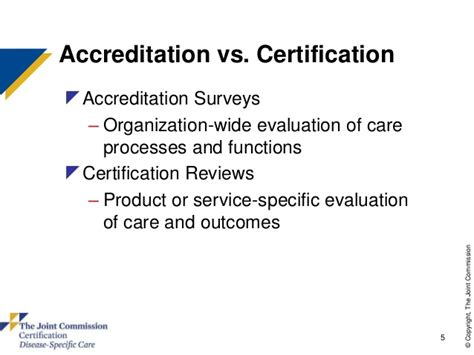 Accredited Mba Vs Non Accredited by Disease Specific Care Certification For Hip And Knee