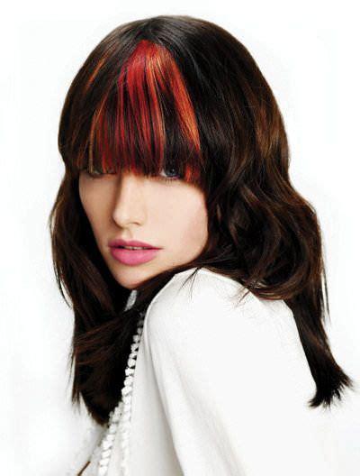 colored bangs colorful bangs beautiful bangs fringes