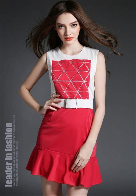 smart casual jurken hot koop dames smart casual jurk rode en witte trouwjurken